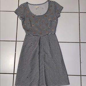 B&W Studded Dress